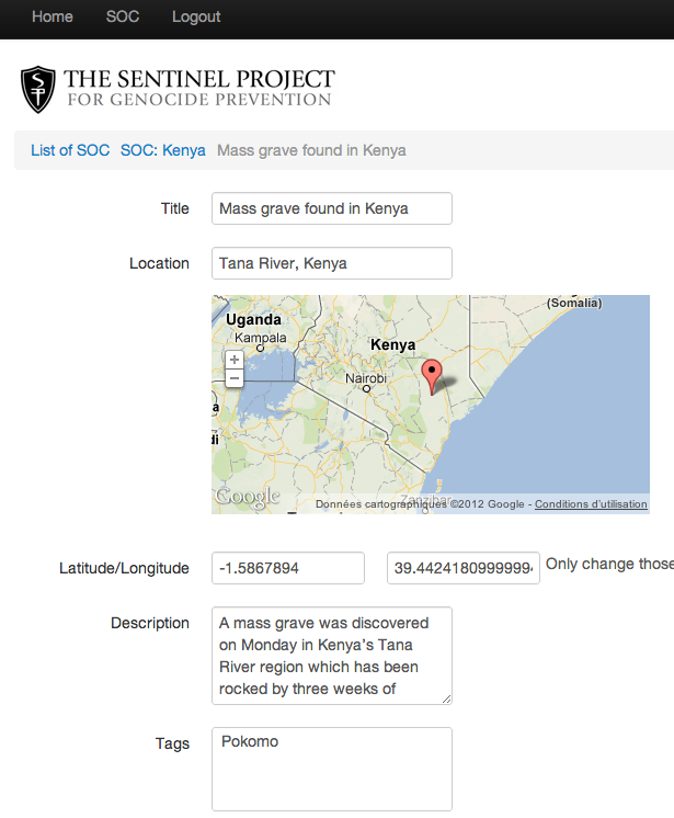 Screenshot of ThreatWiki 3.0