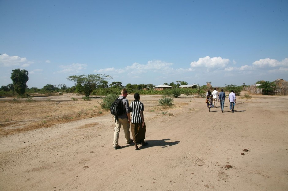 After completing our work we were given a tour around the village.