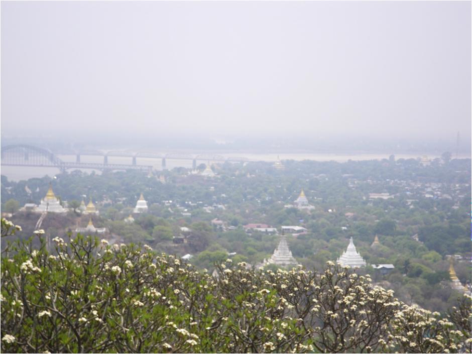 Stupas near Mandalay, Kjell Anderson
