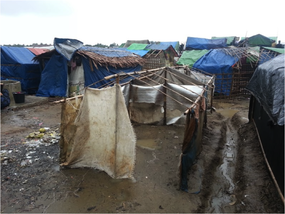 "photo: Chris Tuckwood, ""IDP camp in Rakhine State"""