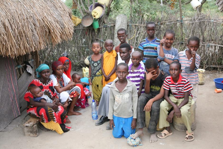 Una Hakika Program Coordinator John Green interviews members of an Orma family in Garsen, Tana Delta