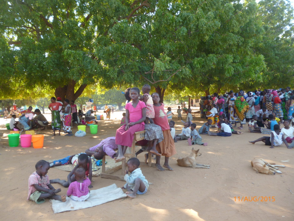 Displaced residents of Katsangani took shelter from recent conflict at Kanagoni Primary School.