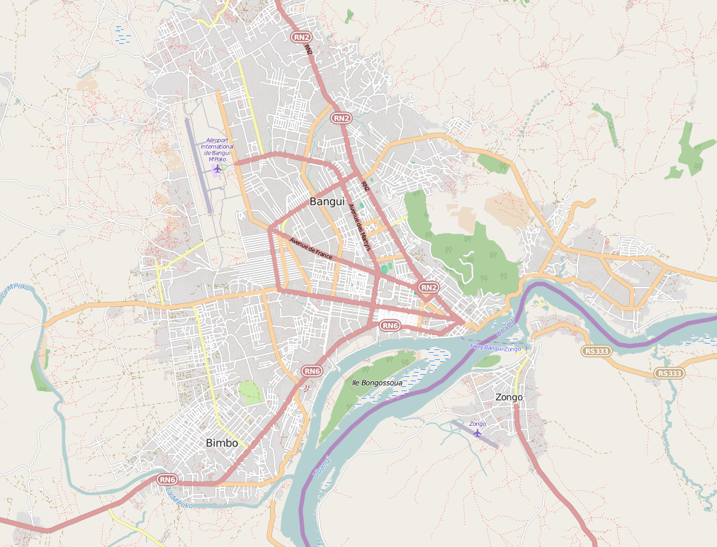 Open Street Map in the Central African Republic
